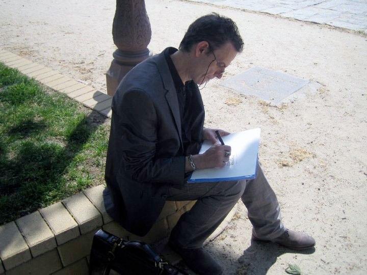 Realización de dibujo a  un sólo trazo (Madrid 2010)