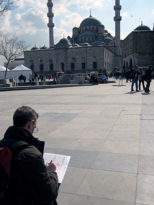 """""""ART IN TURKEY"""",  realización """"in situ""""  de dibujos a un sólo trazo Turquía, 14-21 Marzo 2010"""