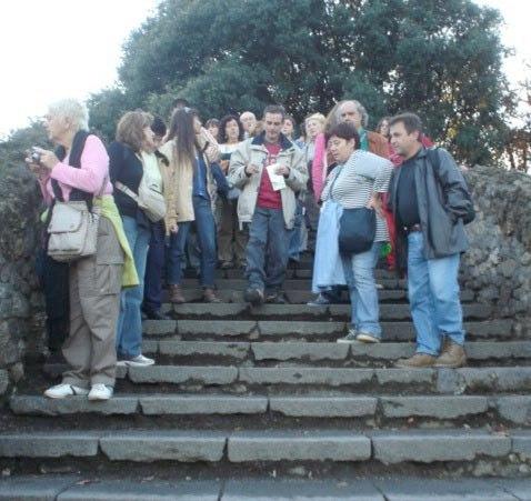 Como guía arqueológico en las ruinas de Pompeya (Italia)