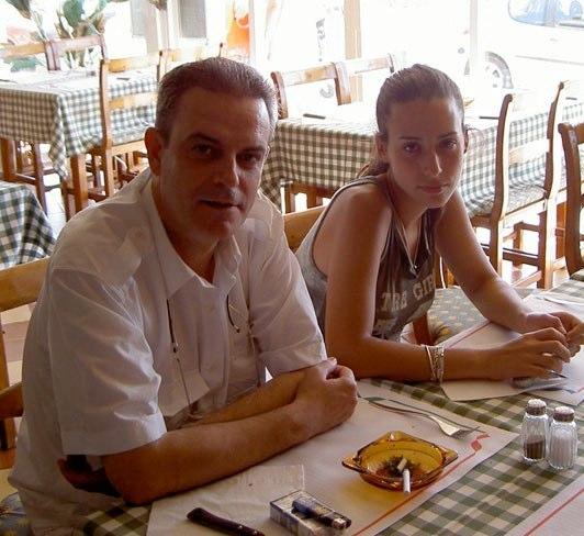 Con su hija Deneb  en Mallorca