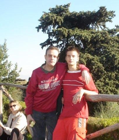 Con su hijo Samahel en la Campania (Italia)