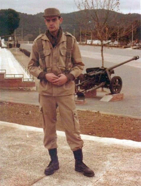 Durante el servicio militar 1981