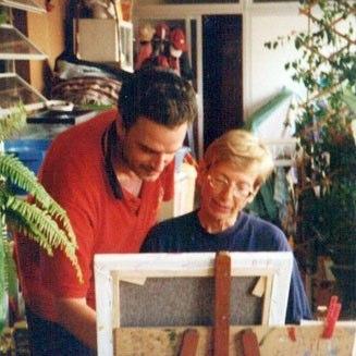 Con una alumna 1998