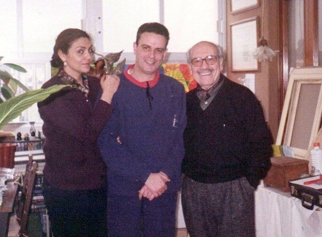 Junto al actor José Luis López Vázquez y una amiga