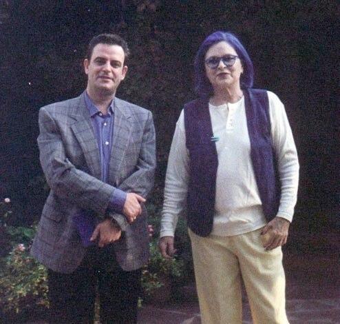 Junto a Lucía Bosé