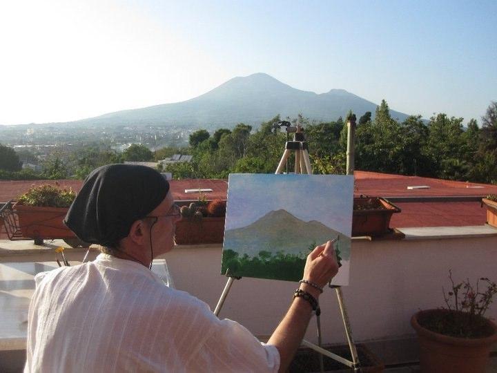 """Muestra realización """"in situ"""" de Acrílico (Nápoles 2010)"""