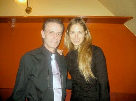 Junto a la TopModel  Martina Klein