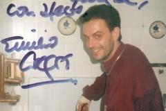 Curiosa dedicatoria de  Emilio Aragón 1991