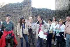 Guía en las ruinas de Pompeya