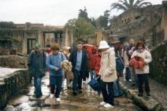 Como guía arqueológico en las excavaciones de Herculano (Italia)