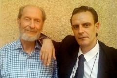 Junto al compositor Miguel Ángel Tornos (Zaragoza)
