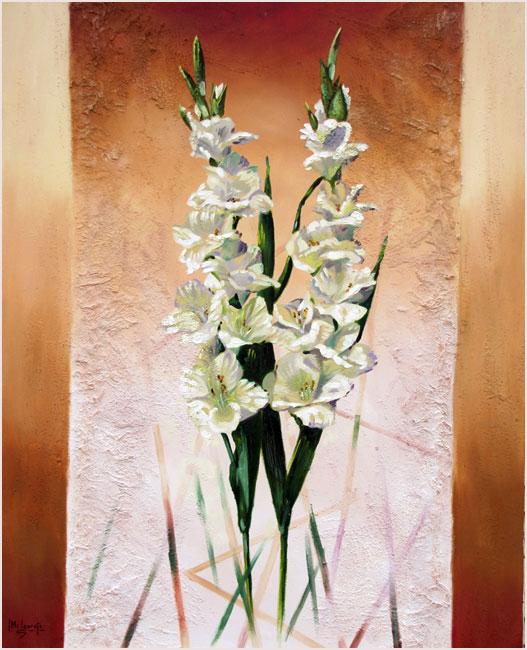 Due Gladius. Óleo y marmolina 73 x 60