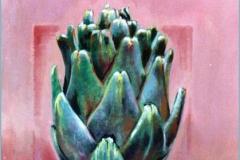 Alcachofa. Óleo sobre lienzo