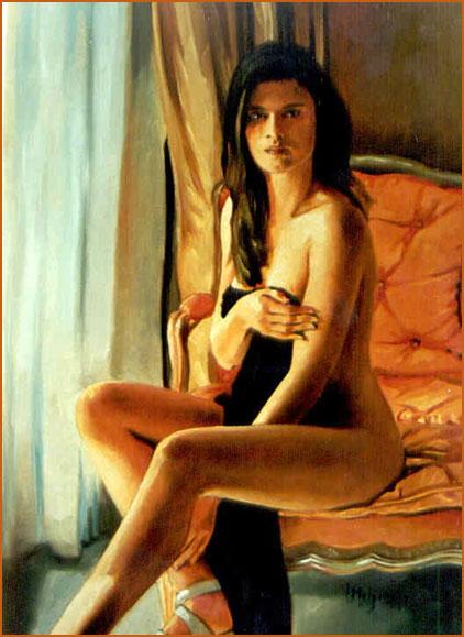 Desnudo Femenino Óleo sobre lienzo