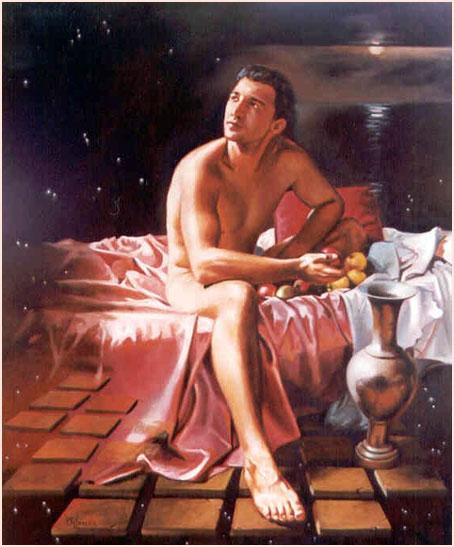 Desnudo Maculino Óleo sobre lienzo