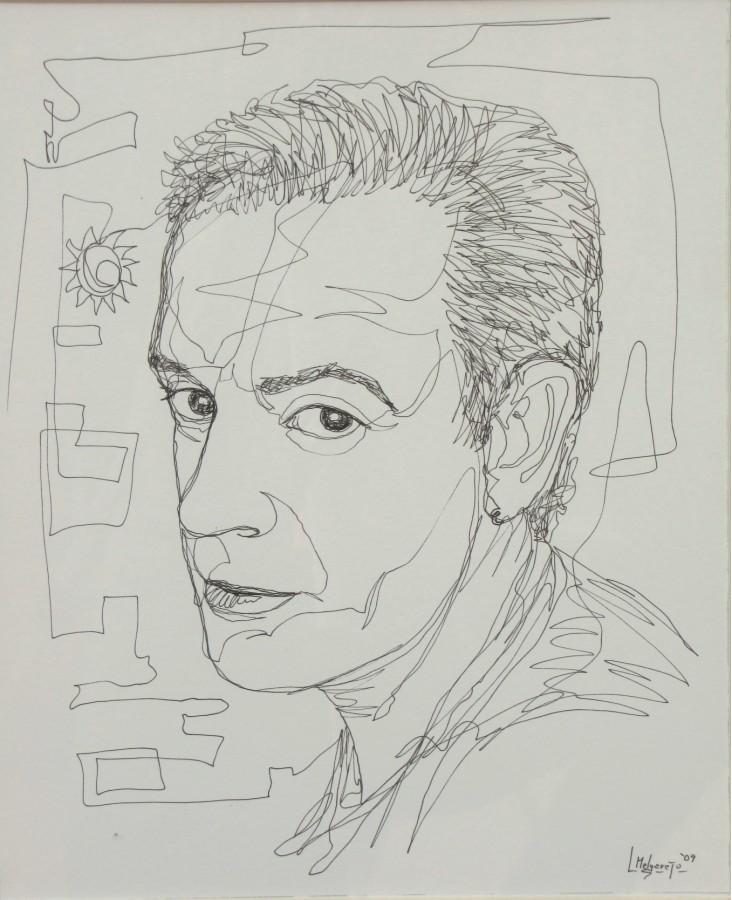 Autorretrato Dibujo a un trazo 40 x 50
