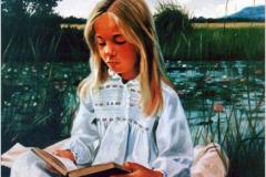 La lectura Óleo sobre lienzo