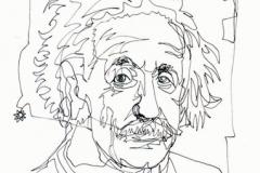 Einstein Retrato a un trazo