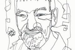 Vicente Ferrer Retrato a un trazo