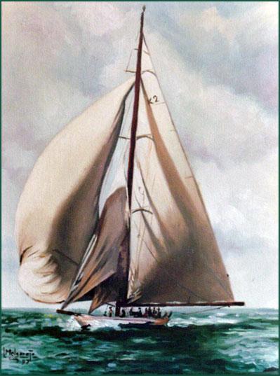 Barco. Óleo sobre lienzo