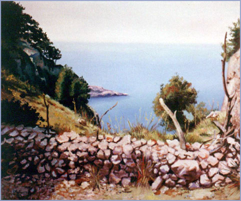 Vista en Mallorca. Óleo sobre lienzo