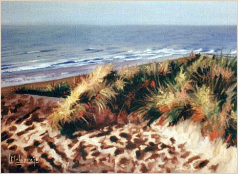 Playa del Atlántico. Óleo sobre lienzo