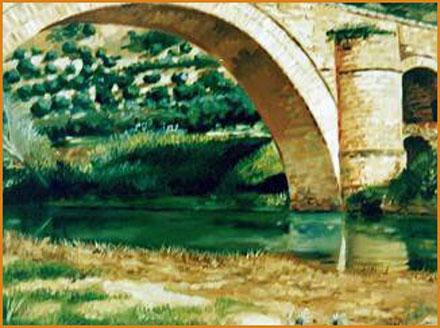 Puente de Ariza (Jaén). Óleo sobre lienzo 41 x 33