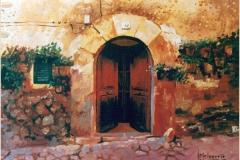 Puerta mallorquina. Óleo sobre lienzo