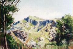 Montaña mallorquina. Óleo sobre lienzo