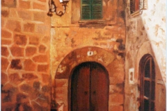 Calle de Valldemossa. Óleo sobre lienzo