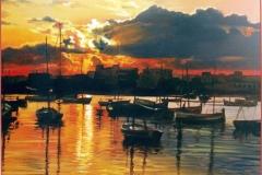 Puerto de Palma. Óleo sobre lienzo 40 x 38