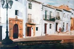 Plaza de Carvajal (Úbeda). Óleo sobre lienzo