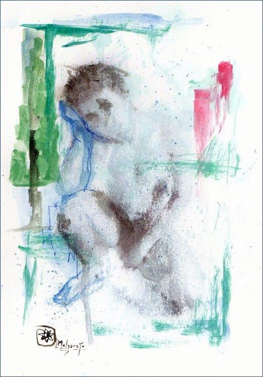 Cipariso. acuarela y tinta 41x26