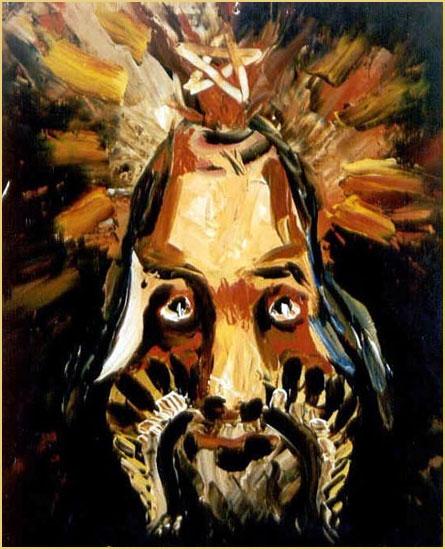 Impresión del hombre I. Óleo sobre lienzo (espátula)