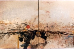 Abstracción (díptico). Óleo sobre lienzo