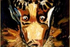Impresión del hombre II. Óleo sobre lienzo (espátula) (volteado)