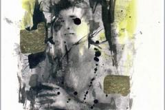 Amaliel Acuarela. tinta y pan de oro