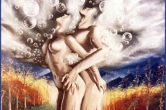 Orgasmo. Óleo sobre lienzo 73 x 60