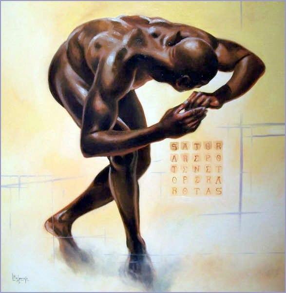 Tahariel Óleo sobre lienzo 60 x 60