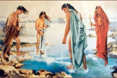 Los 4 Ámgeles Guardianes Óleo sobre lienzo
