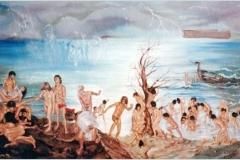 El Diluvio Óleo sobre lienzo