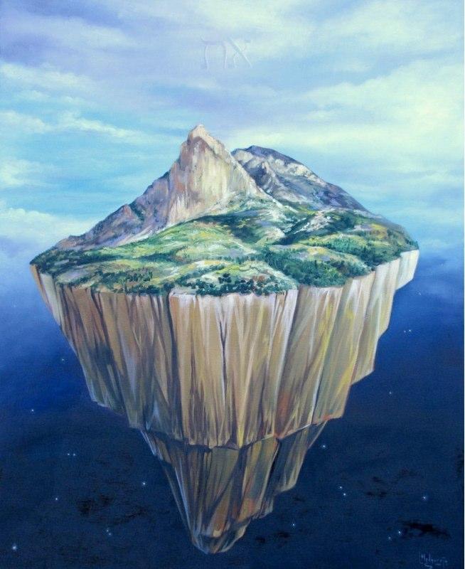 El Secreto del Puig Campana Óleo sobre lienzo 100 x 81
