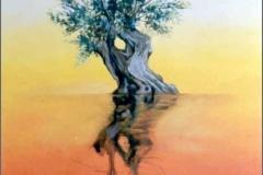 La Sombra del olivo. Óleo sobre lienzo