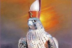 Horus Halcón Óleo sobre lienzo