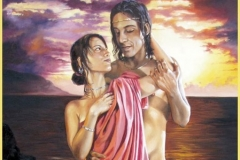 Océano y Tetis Óleo sobre lienzo 92 x 60