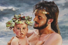 Zeus y Dionisos niño Óleo sobre lienzo 55 x 46