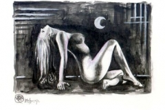 Selene Acuarela y tinta